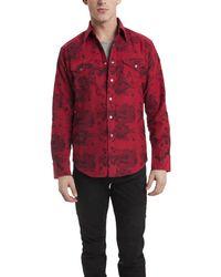 Lucien Pellat Finet Red Skull Shirt red - Lyst