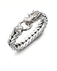 John Hardy Dragon Chain Silver Bracelet - Lyst