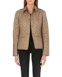 Burberry Kencott Short Waxed Coat Pale Fawn - Lyst