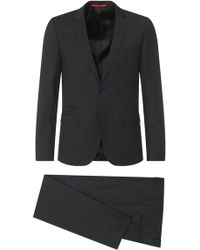 HUGO - Slim-fit Suit In New-wool Blend With Silk: 'arti1/heibo3' - Lyst