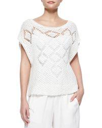 Ella Moss Whitney Open-Knit Sweater - Lyst