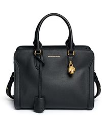 Alexander McQueen | 'padlock' Small Leather Tote | Lyst