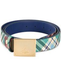 Vivienne Westwood Check Pattern Buckled Belt - Lyst