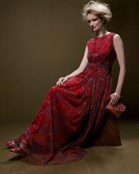 Tadashi Shoji Sleeveless Floralprint Chiffon Gown - Lyst