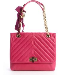 Lanvin Fuchsia Quilted Leather Medium 'Happy' Chainlink Shoulder Bag - Lyst