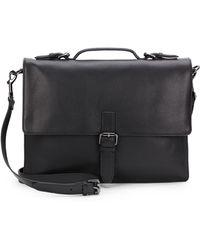 John Varvatos Sid Leather Briefcase - Lyst