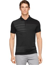 Calvin Klein Ck One Striped Slim-Fit Polo - Lyst