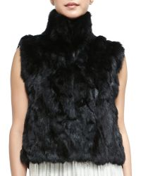 Rebecca Minkoff Rabbit Fur Turtleneck Vest - Lyst
