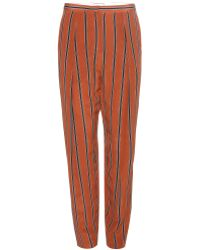 By Malene Birger Liboria Silk Trousers - Lyst