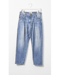 Current/Elliott The Goldminer Pleated Jeans blue - Lyst