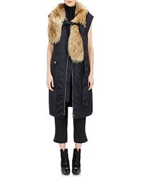 3.1 Phillip Lim - Fur-collar Long Vest - Lyst