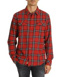 Timberland Red Check Shirt - Lyst