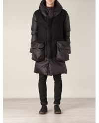 Griffin - Contrast Padded Contrast Coat - Lyst