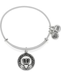 ALEX AND ANI - Claddagh Ii Expandable Wire Bangle - Lyst