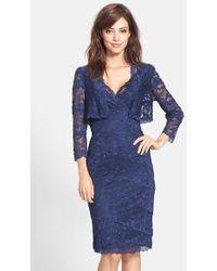 Marina Women'S Lace Sheath Dress With Jacket - Lyst