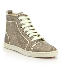 Christian Louboutin | Glitter Hi-top Sneakers | Lyst