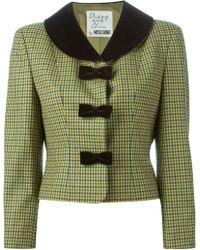 Moschino Cropped Fitted Jacket - Lyst