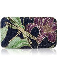 Judith Leiber Lily & Dragonfly Crystal Minaudiere 0JAtMnPpba