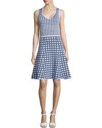 Zac Zac Posen Ponte Floral-Print Sleeveless Dress - Lyst