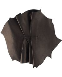 Vionnet - Pleated Leather Brooch - Lyst