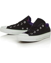 Converse Black Double Tongue Low Trainers - Lyst