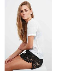 Band Of Gypsies - Dolphin Lace Shorts In Black - Lyst