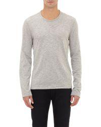 John Varvatos Heathered T-Shirt gray - Lyst