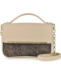 Class Roberto Cavalli Candy Leopard Print & Nude Small Shoulder Bag - Lyst
