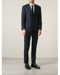 Corneliani Blue Pinstripe Suit - Lyst