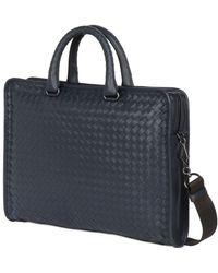 Bottega Veneta Hand Woven Leather Computer Briefcase - Lyst