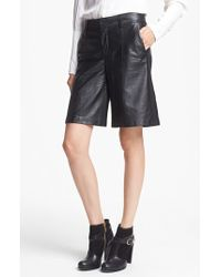 Rachel Zoe - Lamb Leather Culotte Shorts - Lyst