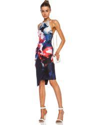 Nicholas Backless Silk Dress - Lyst