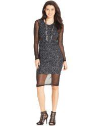 Material Girl Juniors Illusion Bodycon Dress - Lyst