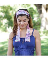 Elizabeth Koh - Purple Paisley Headband With Tassels - Lyst