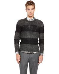 DKNY Gray Stripe Pullover - Lyst