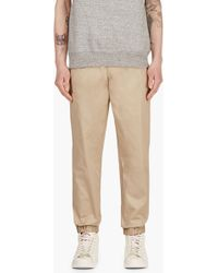 MSGM Tan Drawstring Chinos - Lyst