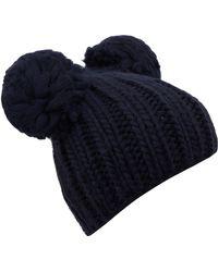 Eugenia Kim - Navy Mimi Pom Pom Ears Beanie Hat - Lyst