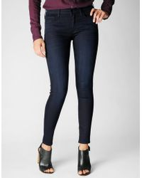True Religion Halle Mid Rise Super Skinny Womens Jean - Lyst