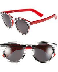 Illesteva 'Leonard Ii' 50Mm Round Mirrored Sunglasses - Lyst