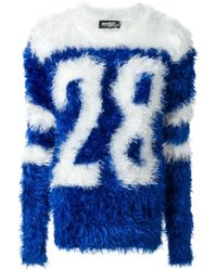 Jeremy Scott Fur Effect Varsity Jumper - Lyst