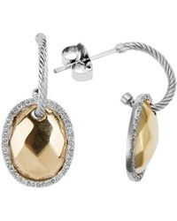 Charriol Gold Facet 18K Yellow And White Gold 0.26Ct Diamonds Dangle Earrings - Lyst