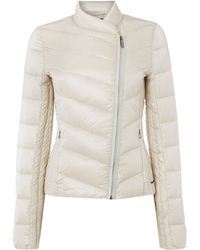 Calvin Klein Obika Coat with Side Front Zip in Moonbeam - Lyst