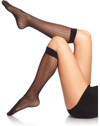 Wolford Rachel Knee Highs black - Lyst