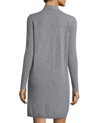 Magaschoni - Long-sleeve Cable-knit Trim Cashmere Duster - Lyst