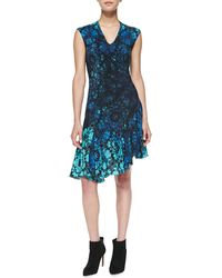 Nanette Lepore Mystery Asymmetric Floralprint Dress - Lyst