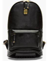 Diesel Black Smooth Leather Clubber Backpack - Lyst