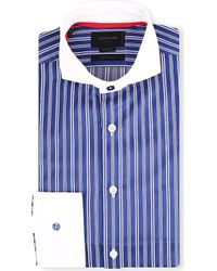 Duchamp Francisco Striped Shirt Lupin - Lyst