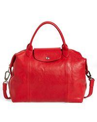 Longchamp | 'le Pliage Cuir' Leather Handbag | Lyst