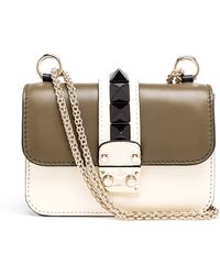 Valentino Small Leather Rockstud Bag - Lyst