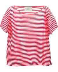 Forte Forte Striped Sheer Top - Lyst